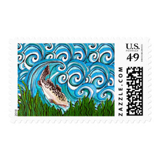 Trout Waves Stamp
