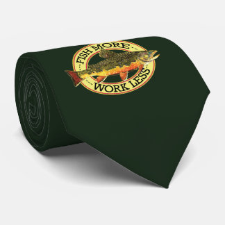 Trout Whisker's Humorous Fly Fishing Neck Tie
