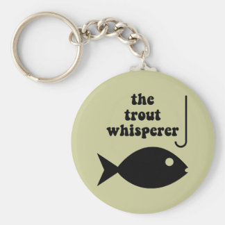 trout whisperer fishing keychain