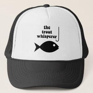trout whisperer fishing trucker hat