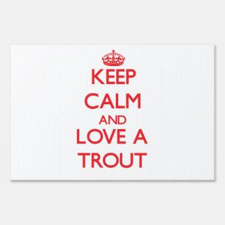 Trout Lawn Sign