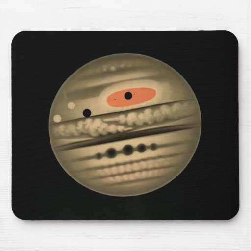 Trouvelot Astronomy Jupiter Drawing Mouse Pads