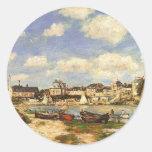 Trouville, 1864 pegatina redonda