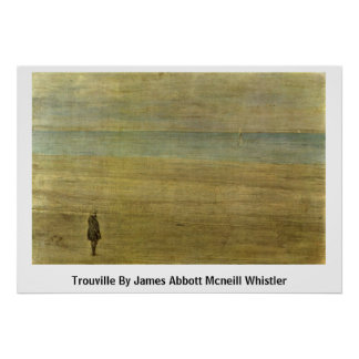 Trouville By James Abbott Mcneill Whistler Print