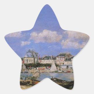 Trouville de Eugene Boudin Pegatina En Forma De Estrella