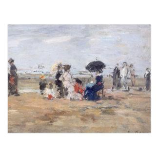 Trouville, Scène de plage - Eugène Boudin Postal