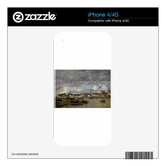 Trouville, the Port by Eugene Boudin Skin For iPhone 4