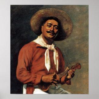 Trovador hawaiano - poster de Huberto Vos