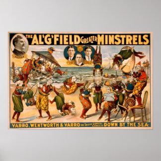 Trovadores 1905 del campo del Al mayores Póster