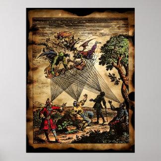 Trovadores medievales del alcohol poster