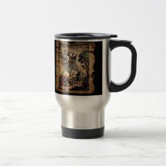 Trovadores medievales del alcohol taza de viaje