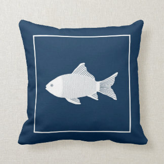 Trow pillow with decorative fish
