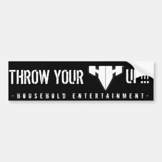 """Trow You H's Up"" Bumper Sticker"