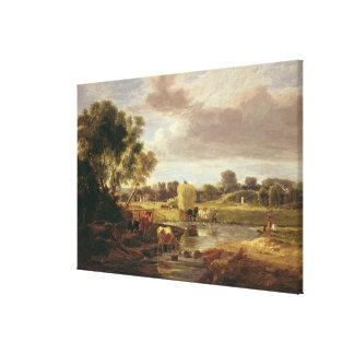 Trowse Meadows, Near Norwich, 1828 Canvas Print
