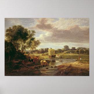 Trowse Meadows, Near Norwich, 1828 Poster