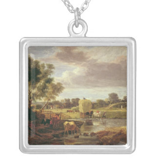 Trowse Meadows, Near Norwich, 1828 Silver Plated Necklace