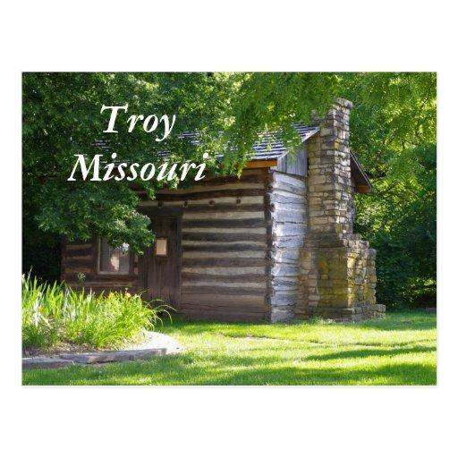Troy 076, Troy Missouri Postcard