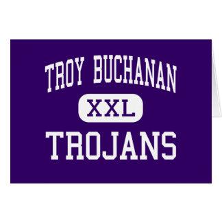 Troy Buchanan - Trojans - High - Troy Missouri Greeting Card