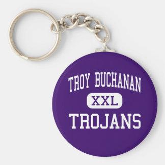 Troy Buchanan - Trojans - High - Troy Missouri Basic Round Button Keychain