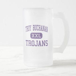 Troy Buchanan - Trojans - High - Troy Missouri 16 Oz Frosted Glass Beer Mug