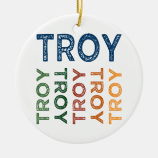 Troy Cute Colorful Christmas Ornament