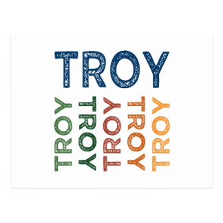 Troy Cute Colorful Post Cards
