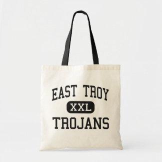 Troy del este - Trojan - alto - Troy del este Wisc Bolsa Lienzo