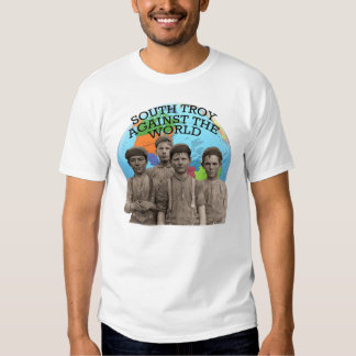 Troy del sur contra la camiseta del mundo polera