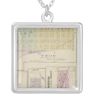 Troy, Doniphan, Larkin, Monrovia, Kansas Square Pendant Necklace
