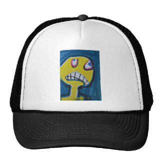 Troy - Graphic Yellow Face Trucker Hat
