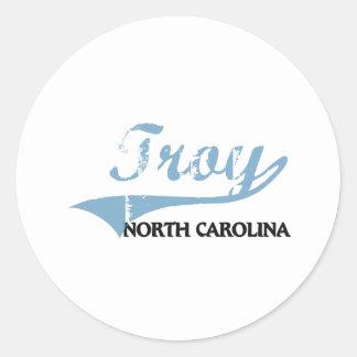 Troy North Carolina City Classic Classic Round Sticker