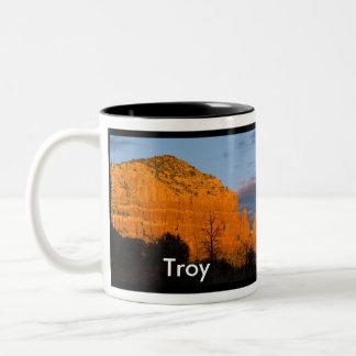 Troy on Moonrise Glowing Red Rock Mug