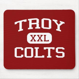 Troy - potros - High School secundaria de Troy - T Alfombrillas De Ratones