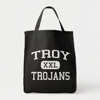 Troy - Trojan - escuela secundaria - Troy Pennsylv Bolsa Lienzo