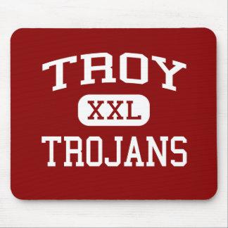 Troy - Trojan - High School secundaria de Troy - T Alfombrillas De Ratón