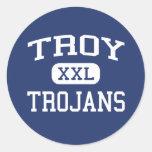 Troy Trojans Troy Middle School Troy Kansas Classic Round Sticker