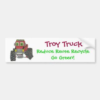 Troy Truck Car Bumper Sticker