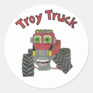 Troy Truck Classic Round Sticker