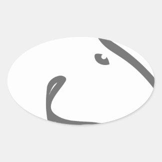 Troya..trump.jpg Oval Sticker