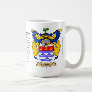 Troyer, the Origin, the Meaning and the Crest Classic White Coffee Mug