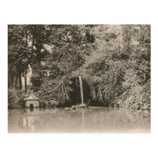 Troyes Jardin du Rocher replica 1920 Postcard