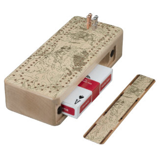 Troyes Maple Cribbage Board