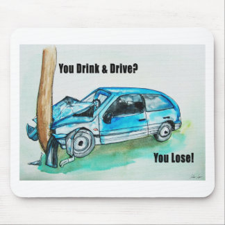 troygift drunk driving mouse pad