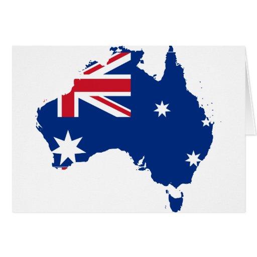 Trozo de Australia, Australia Tarjeta De Felicitación