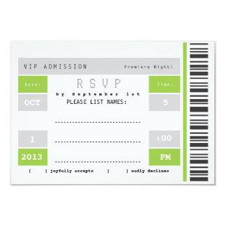 Trozo de boleto del concierto RSVP Invitación Personalizada