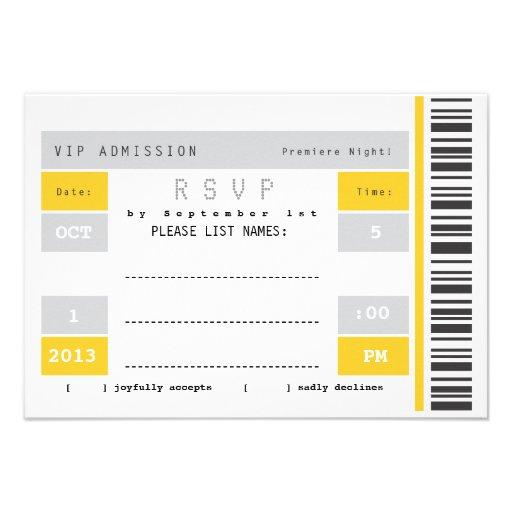 Trozo de boleto del concierto RSVP Anuncios