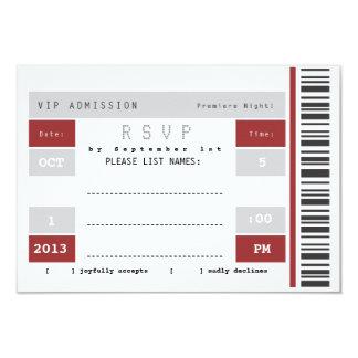 Trozo de boleto del concierto RSVP Comunicados Personales
