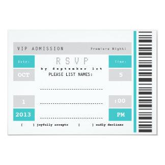 """Trozo de boleto del concierto RSVP Invitación 3.5"""" X 5"""""""