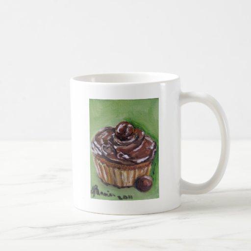 Trozo del chocolate del amor taza