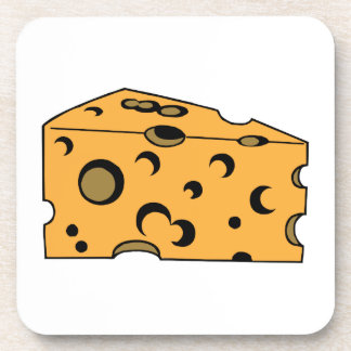 Trozo del queso suizo posavasos de bebidas